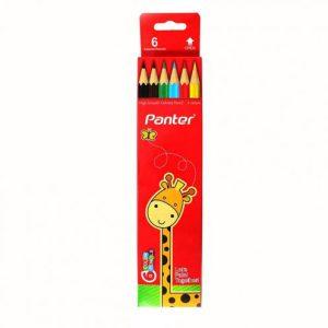 مداد 6 رنگ پنتر