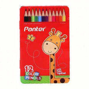 مداد رنگی 12 رنگ جعبه فلزی پنتر