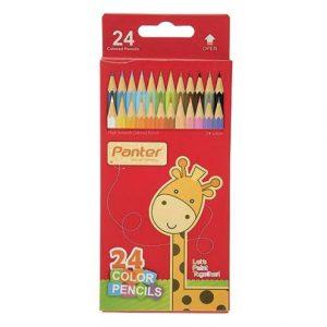مداد رنگی 12 رنگ مقوایی پنتر