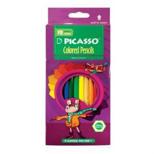 مداد رنگی 12 رنگ تحت مقوایی پیکاسو