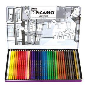 مداد رنگی 36 رنگ تخت فلزی پیکاسو